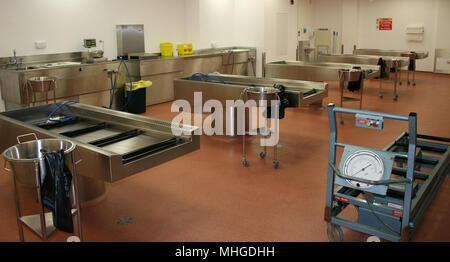 Public Mortuary, post mortem room, Hull University Teaching Hospitals NHS Trust - Stock Photo