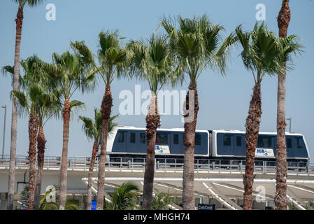 Automated People Mover at Miami International Airport, Miami, Florida. - Stock Photo