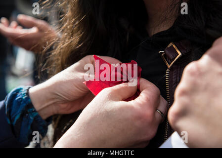 May 1, 2018 - Turin, Italy-May 1, 2018: Workers demonstration in the May Day procession in Turin, Italy Credit: Stefano Guidi/ZUMA Wire/Alamy Live News - Stock Photo