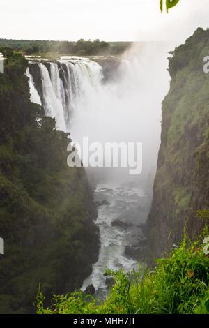 Amazing Victoria Falls, Zambezi River, Zimbabwe and Zambia - Stock Photo