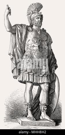 Pyrrhus, 319/318–272 BC, a Greek general and statesman, Hellenistic period - Stock Photo