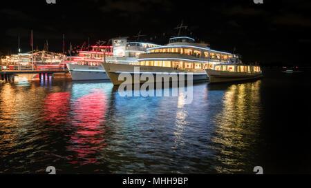 Night at Zurich, Switzerland, Europe - Stock Photo