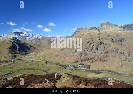 Great Langdale, lake District. Langdale Pikes and Bowefell