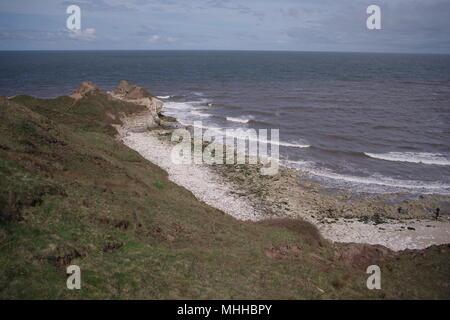 Thornwick Bay, North Yorkshire Coast, UK - Stock Photo