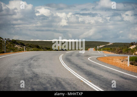 endless road in West Australia - Stock Photo