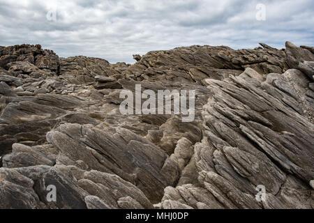 rocks of vivonne bay kangaroo island landscape - Stock Photo