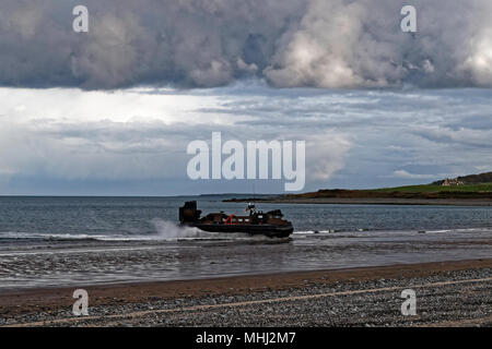 British Royal Marines assault hovercraft - Stock Photo