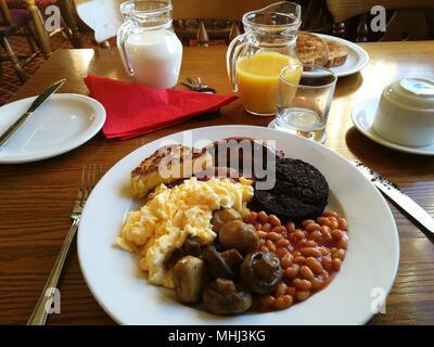 Full English Cooked Breakfast - Stock Photo
