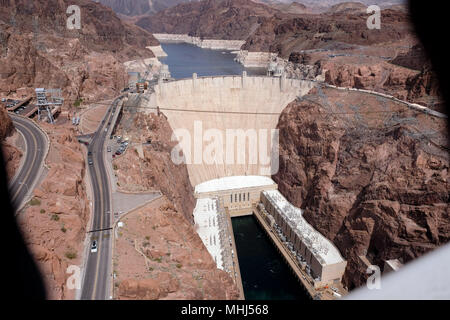 In and around the Hoover Dam near Boulder City and Las Vegas - Stock Photo