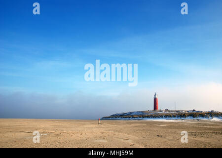 Lighthouse at isle Texel, Holland Europe. Vuurtoren. - Stock Photo