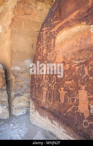 rochester panel petroglyphs near emery, utah - Stock Photo