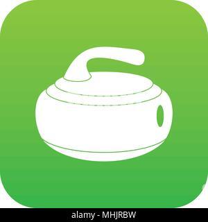 Curling stone icon digital green - Stock Photo