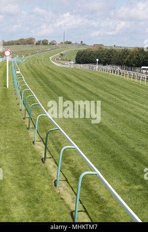 Sunny May afternoon at Brighton Racecourse - Stock Photo