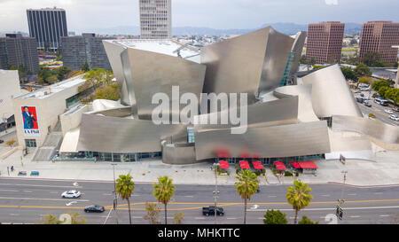 Walt Disney Concert Hall, Los Angeles, California - Stock Photo