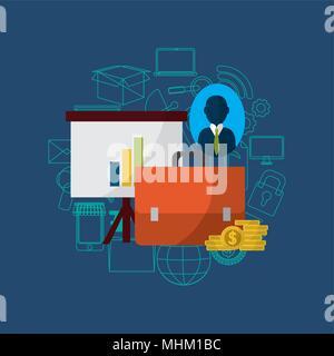 Smartphone media marketing - Stock Photo