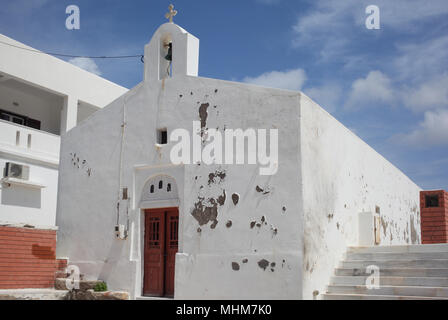 Chapel of the Orthodox church on island of Naxos in Greece - Stock Photo