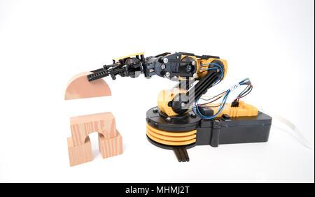 Plastic robot arm model - Stock Photo