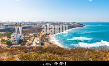 Coast of Dakar, the capital and largest city of Senegal. - Stock Photo