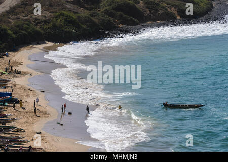 Coast of Dakar, the capital and largest city of Senegal. - Stock Photo