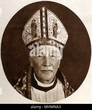 Arthur Foley Winnington-Ingram (18581946) - Bishop of London from 1901 to 1939 Photograph taken at the time of the coronation Book of King George VI and Queen Elizabeth on 12th May 1937.     Date: 1937