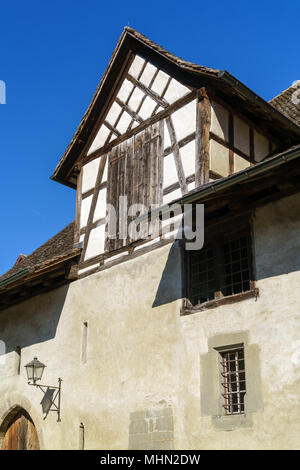 The place at the Eastern end of the Unterstad, tStein am Rhein, Schaffhausen, Switzerland - Stock Photo