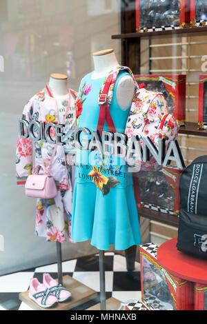 Dolce and Gabbana shop window display. New Bond Street, London - Stock Photo