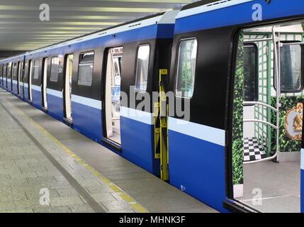 St. Petersburg, Russia, June 1, 2016 subway train - Stock Photo
