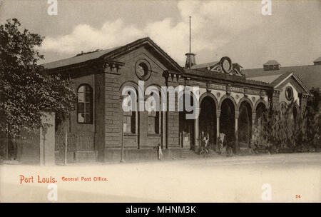 Mauritius - Port Louis - General Post Office - now the Mauritius Postal Museum     Date: circa 1909 - Stock Photo