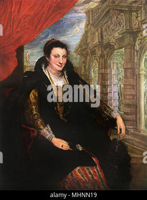 Isabella Brant by Peter Paul Rubens (1577-1640) - canvas.     Date: circa 1625 - Stock Photo