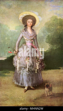 The Marquesa de Pontejos by Francisco Goya y Lucientes (1746-1828) - painting on canvas (1785-1790).     Date: circa 1788 - Stock Photo