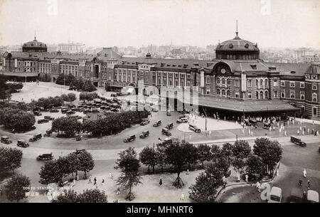 The Tokyo Central Railway Station - Japanese Government Railways, Tokyo, Japan.     Date: 1937 - Stock Photo