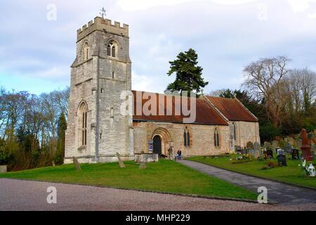 St Nicholas Church in the village of Beaudesert near Henley-in-Arden, Warwickshire.      Date: 2010s - Stock Photo