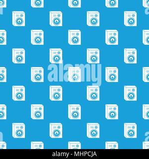 Studio speakers pattern vector seamless blue - Stock Photo