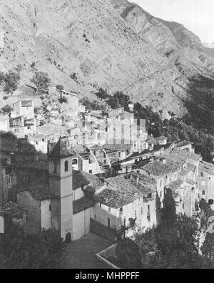ALPES-MARITIMES. Le Touët-de-Beuil 1903 old antique vintage print picture - Stock Photo
