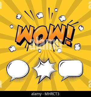 comic pop art speech bubble - Stock Photo