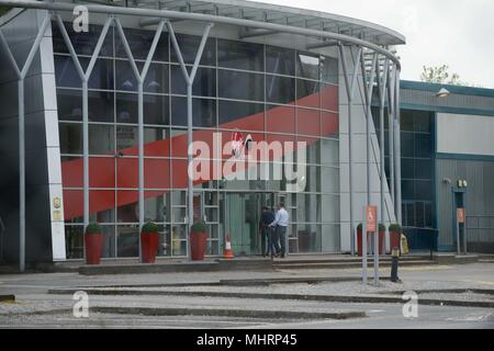 Swansea, South Wales, UK. May 3rd 2018 The Virgin Media call centre in Swansea, South Wales, where news broke today that almost 800 jobs are to go as the company plans to call the Swansea base. Credit: Robert Melen/Alamy Live News. - Stock Photo