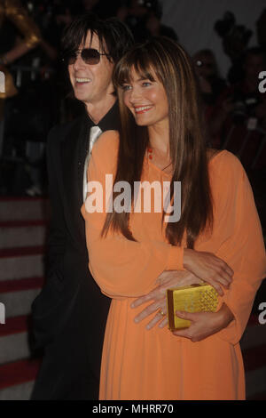 NEW YORK - MAY 04: Ric Ocasek, Paulina Porizkova attends 'The Model as Muse: Embodying Fashion' Costume Institute Gala at The Metropolitan Museum of Art on May 4, 2009 in New York City   People:  Ric Ocasek, Paulina Porizkova - Stock Photo