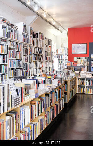 Interior of William Stout Architectural Books on Montgomery Street in San Francisco, CA, USA. - Stock Photo