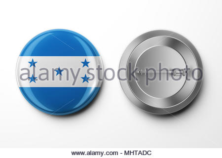 Vote Badge On White With Clipping Path - Stock Photo