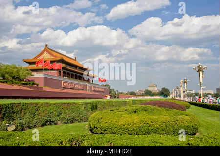 Tiananmen tower in a sunny day - Stock Photo