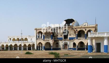 Ruins of former Haile Selassie residence in Massawa, Eritrea - Stock Photo