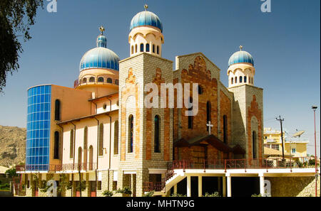 Exterior view to San Antonios Church in Keren, Eritrea - Stock Photo