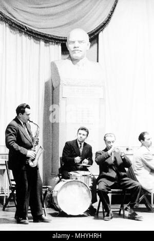 russia, moscow, band at texile workers' club, 1970 - Stock Photo