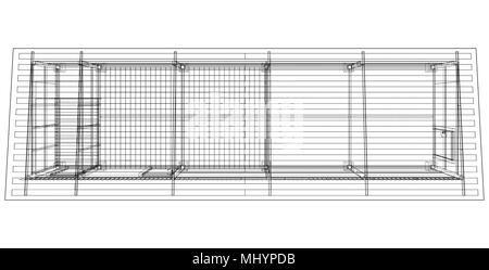 Household building project. Vector - Stock Photo