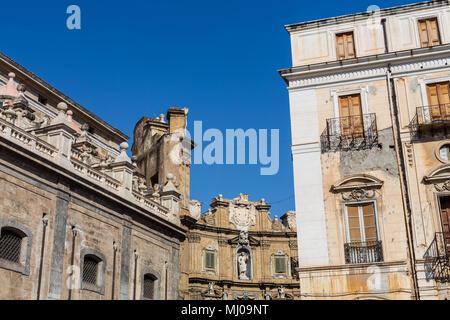 Piazza Pretoria, Palermo, Sicily, Italy - Stock Photo