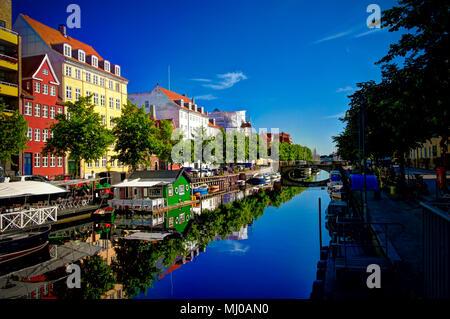 Morning view of the channel - 15-06-2014 Copenhagen Denmark - Stock Photo