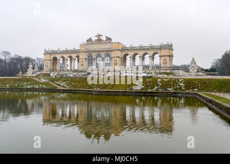 Gloriette in Schonbrunn Palace Garden, Vienna, Austria - Stock Photo