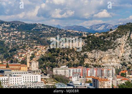 Ligurian Alps in Nice, Côte d'Azur -  France - Stock Photo