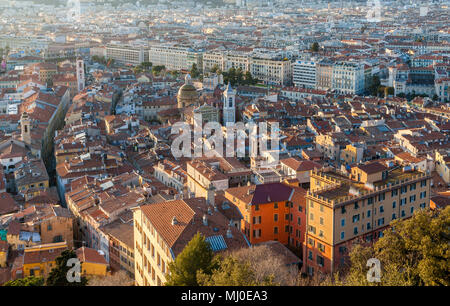 View of Nice - Cote d'Azur -  France - Stock Photo