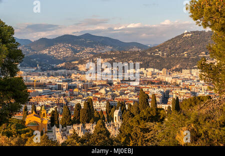 View of Nice - Côte d'Azur -  France - Stock Photo